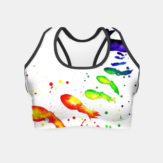 Thumbnail image of squid attack Crop Top, Live Heroes