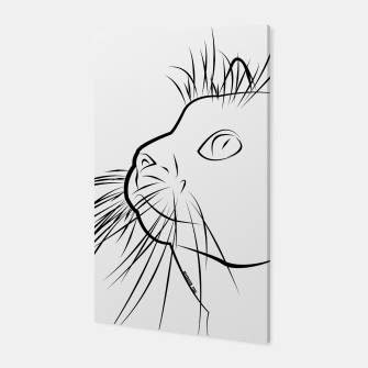Miniature de image de Line Art Cat Canvas, Live Heroes