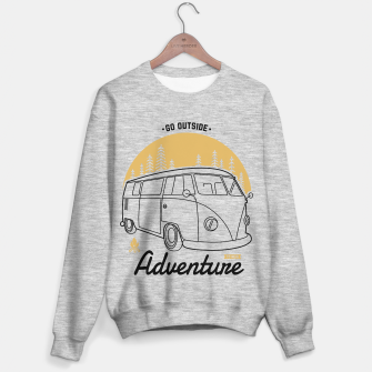 Thumbnail image of Go outside to new adventure Sweater regular, Live Heroes
