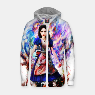 Thumbnail image of alice madness returns Cotton zip up hoodie, Live Heroes