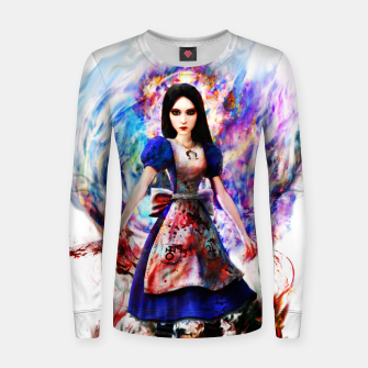 Thumbnail image of alice madness returns Woman cotton sweater, Live Heroes