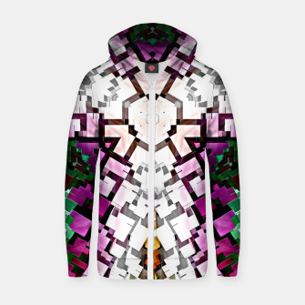 Thumbnail image of Cuboid Mania Cotton zip up hoodie, Live Heroes