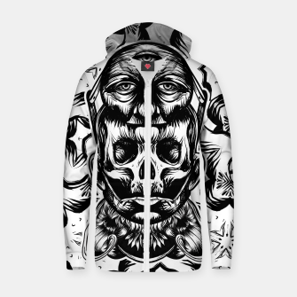 Thumbnail image of Face helmet bw Cotton zip up hoodie, Live Heroes