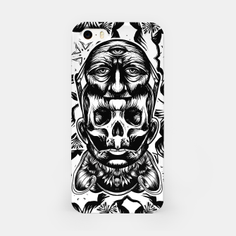 Thumbnail image of Face helmet bw iPhone Case, Live Heroes