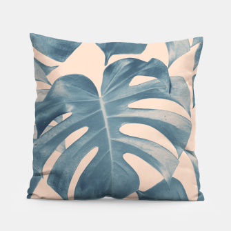 Thumbnail image of Tropical Monstera Leaves Dream #5 #tropical #decor #art  Kissen, Live Heroes