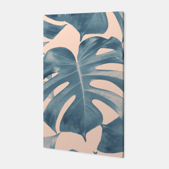 Thumbnail image of Tropical Monstera Leaves Dream #5 #tropical #decor #art  Canvas, Live Heroes