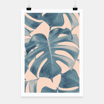 Thumbnail image of Tropical Monstera Leaves Dream #5 #tropical #decor #art  Plakat, Live Heroes