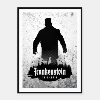 Thumbnail image of Frankenstein 1818-2018 - 200th Anniversary Framed poster, Live Heroes
