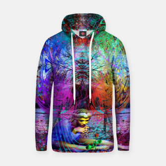 Miniaturka An Early Visit From The Frost Fairy (autumn, fall, winter, psychedelic, fantasy, visionary) Cotton hoodie, Live Heroes