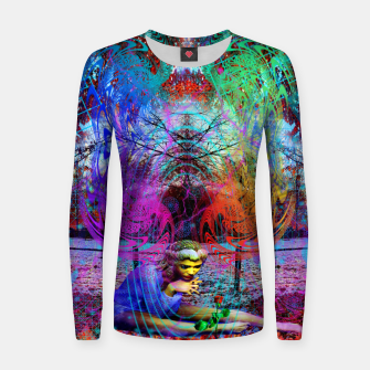 Miniaturka An Early Visit From The Frost Fairy (autumn, fall, winter, psychedelic, fantasy, visionary) Woman cotton sweater, Live Heroes