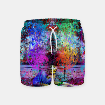 Miniaturka An Early Visit From The Frost Fairy (autumn, fall, winter, psychedelic, fantasy, visionary) Swim Shorts, Live Heroes