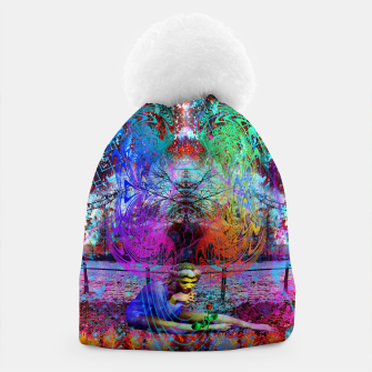 Miniaturka An Early Visit From The Frost Fairy (autumn, fall, winter, psychedelic, fantasy, visionary) Beanie, Live Heroes