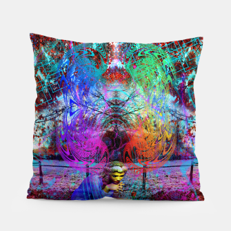 Thumbnail image of An Early Visit From The Frost Fairy (autumn, fall, winter, psychedelic, fantasy, visionary) Pillow, Live Heroes
