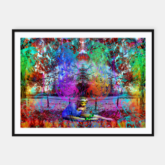 Thumbnail image of An Early Visit From The Frost Fairy (autumn, fall, winter, psychedelic, fantasy, visionary) Framed poster, Live Heroes