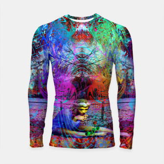 Thumbnail image of An Early Visit From The Frost Fairy (autumn, fall, winter, psychedelic, fantasy, visionary) Longsleeve rashguard , Live Heroes