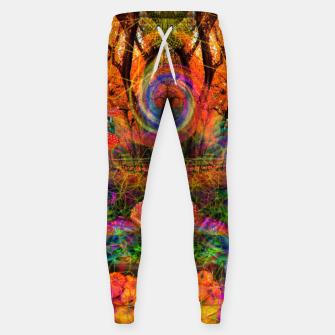 Hypnotic Autumn Magic (psychedelic, nature, mushrooms) Cotton sweatpants Bild der Miniatur