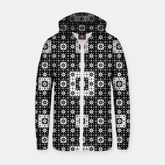 OP ART - Black And White Optical Illusion Cube Toy - 03 Cotton zip up hoodie miniature