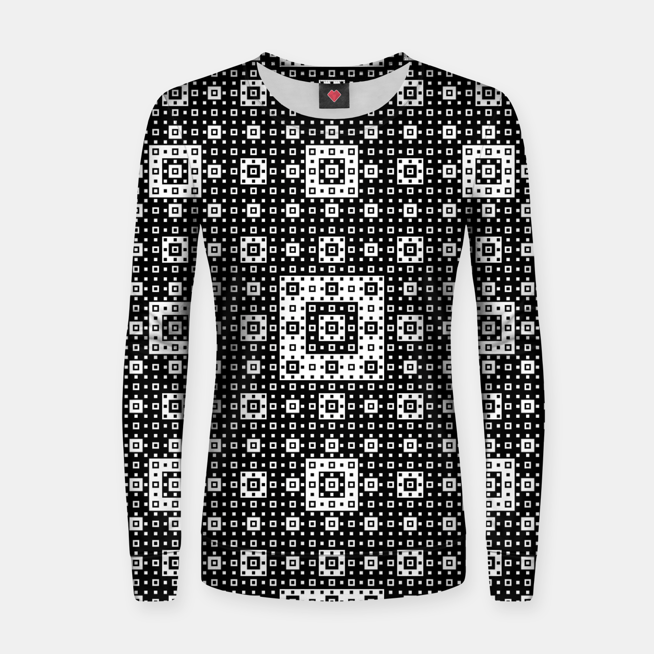 Image de OP ART - Black And White Optical Illusion Cube Toy - 03 Woman cotton sweater - Live Heroes