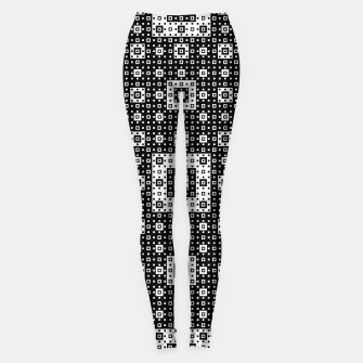 OP ART - Black And White Optical Illusion Cube Toy - 03 Leggings miniature