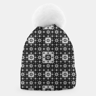 OP ART - Black And White Optical Illusion Cube Toy - 03 Beanie miniature