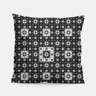 OP ART - Black And White Optical Illusion Cube Toy - 03 Pillow miniature