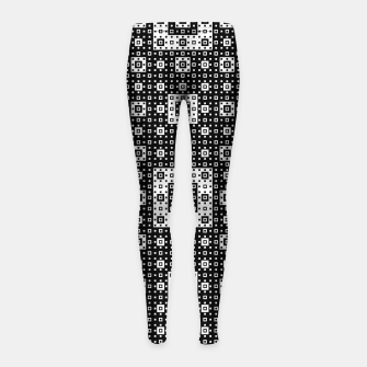OP ART - Black And White Optical Illusion Cube Toy - 03 Girl's leggings miniature
