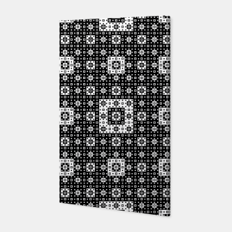 OP ART - Black And White Optical Illusion Cube Toy - 03 Canvas miniature