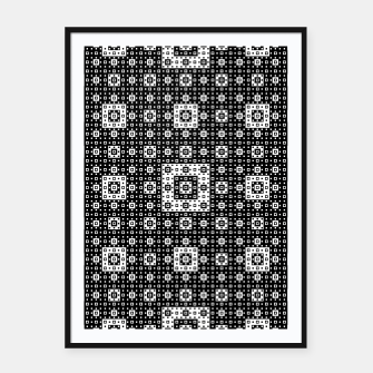 Miniature de image de OP ART - Black And White Optical Illusion Cube Toy - 03 Framed poster, Live Heroes