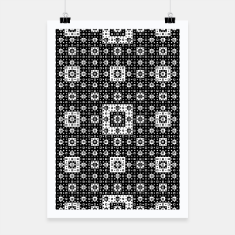 OP ART - Black And White Optical Illusion Cube Toy - 03 Poster miniature