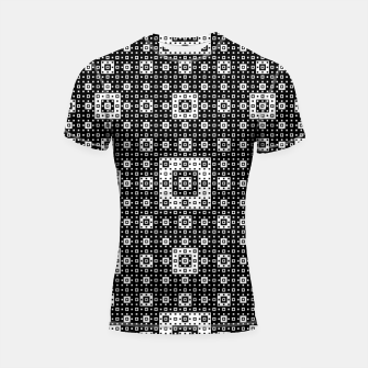 OP ART - Black And White Optical Illusion Cube Toy - 03 Shortsleeve rashguard miniature