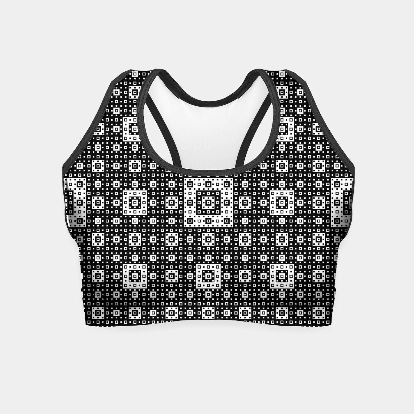 Image de OP ART - Black And White Optical Illusion Cube Toy - 03 Crop Top - Live Heroes