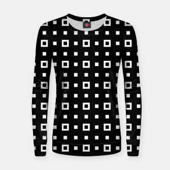 OP ART - Black And White Optical Illusion Cube Toy - 04 Woman cotton sweater miniature