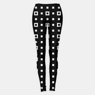 OP ART - Black And White Optical Illusion Cube Toy - 04 Leggings miniature