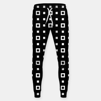OP ART - Black And White Optical Illusion Cube Toy - 04 Cotton sweatpants miniature