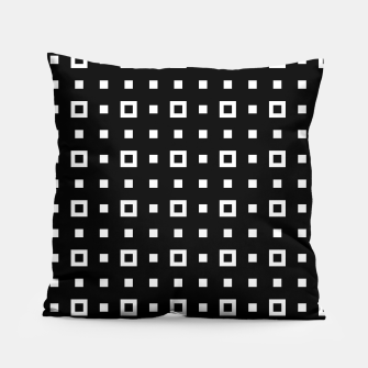 OP ART - Black And White Optical Illusion Cube Toy - 04 Pillow miniature