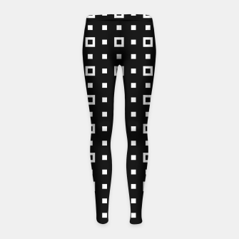 OP ART - Black And White Optical Illusion Cube Toy - 04 Girl's leggings miniature