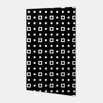 OP ART - Black And White Optical Illusion Cube Toy - 04 Canvas miniature