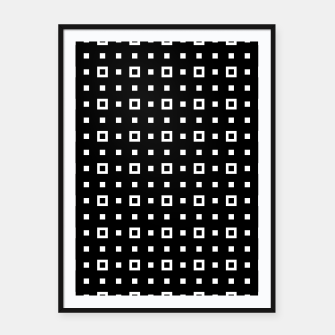 OP ART - Black And White Optical Illusion Cube Toy - 04 Framed poster miniature