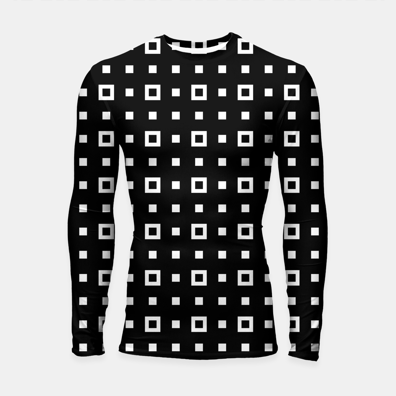 Image de OP ART - Black And White Optical Illusion Cube Toy - 04 Longsleeve rashguard  - Live Heroes