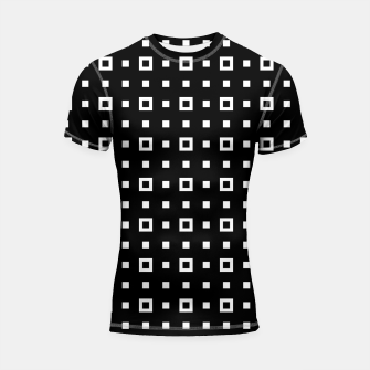 OP ART - Black And White Optical Illusion Cube Toy - 04 Shortsleeve rashguard miniature