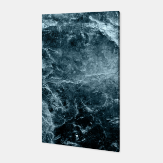 Thumbnail image of Enigmatic Deep Blue Ocean Marble #1 #decor #art  Canvas, Live Heroes