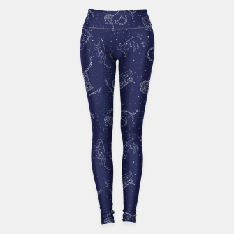 Thumbnail image of Big Cats Constellations Leggings, Live Heroes