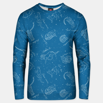 Thumbnail image of Big Cats Constellations (Light Blue Sky) Cotton sweater, Live Heroes