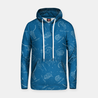 Thumbnail image of Big Cats Constellations (Light Blue Sky) Cotton hoodie, Live Heroes