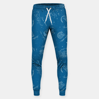 Thumbnail image of Big Cats Constellations (Light Blue Sky) Cotton sweatpants, Live Heroes