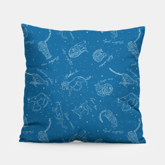 Thumbnail image of Big Cats Constellations (Light Blue Sky) Pillow, Live Heroes