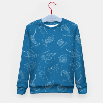 Thumbnail image of Big Cats Constellations (Light Blue Sky) Kid's sweater, Live Heroes