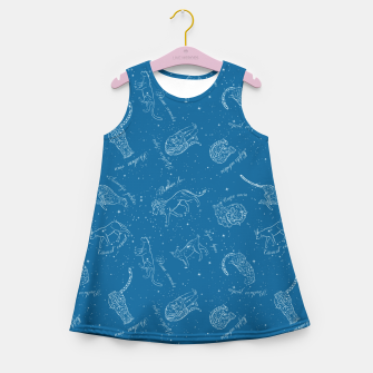 Thumbnail image of Big Cats Constellations (Light Blue Sky) Girl's summer dress, Live Heroes