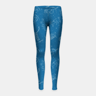 Thumbnail image of Big Cats Constellations (Light Blue Sky) Girl's leggings, Live Heroes
