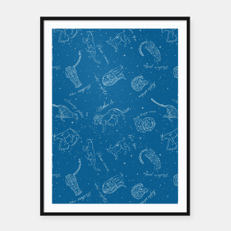 Thumbnail image of Big Cats Constellations (Light Blue Sky) Framed poster, Live Heroes